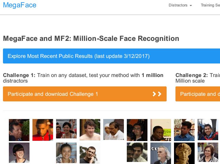 MEGA FACEのサイト画像