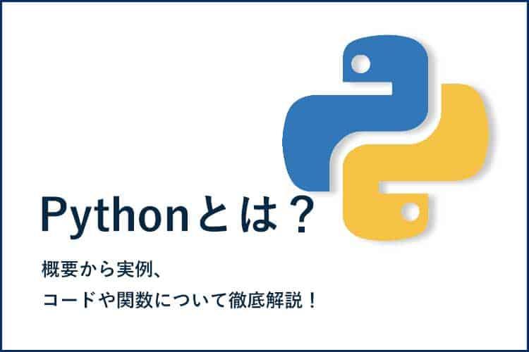 Pythonとは?概要から実例、コードや関数について徹底解説!