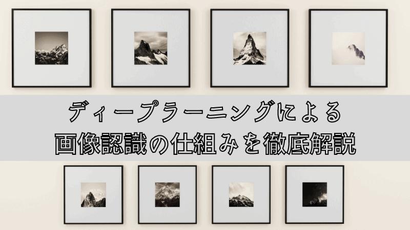 ディープラーニングによる画像認識の仕組みを徹底解説